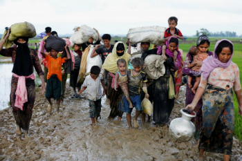 Rohingya Muslims have suffered persecution from the Buddhist majority in Myanmar.