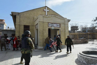 A suicide bomber killed eight people at a Methodist church in Pakistan.