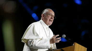 Pope Francis spoke about human rights and the need for stable relationships.