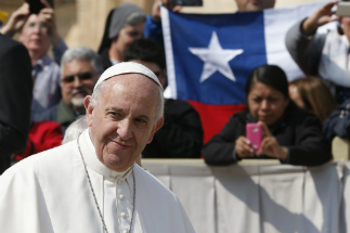 Pope Francis is visiting Chile.