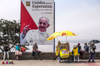 Pope Francis has finished his visit to Peru and is headed home.