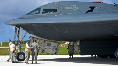 The arrival of three B-2 bombers in Guam ups the ante on North Korea. It is unclear why the bombers were ordered to the island base.