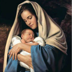 The Virgin Mary is one of the greatest role models in motherhood. [picture: pinterest.com]