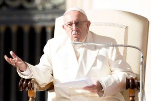 The Holy Spirit came as fire, not a schedule, Pope Francis tells Catholic charity