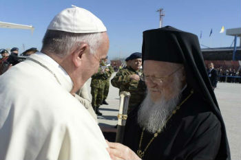 Pope Francis and Patriarch Bartholomew I in Greece