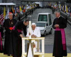 Image of The six day apostolic visit of the Holy Father,Pope Benedict XVI, which all occurred under the theme