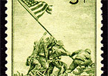 Image of  The 3-cent Iwo Jima stamp was issued July 11, 1945