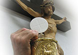 Image of We can gaze upon His Presence here in the Eucharist as long as our Churches remain open.