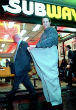 Image of Jared Fogle is known for his massive weight loss on a