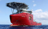 Image of Ocean Shield, one of the key recovery vessels leading the search for MH370 in the Southern Indian Ocean.