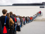 Image of The practice of lining up is taught in school and is a quintessential aspect of modern civilization.