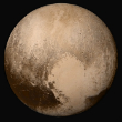 Image of The New Horizons image of Pluto. Far from being a boring, icy world with few features, Pluto is a surprisingly complex world full of surprises.