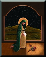 Image of Mary, Mother of the Lord. From the moment of conception, Jesus  was redeeming the world.