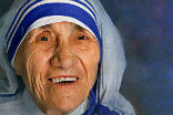 Image of Mother Teresa of Calcutta is an example for all to follow, even the nonbeliever.