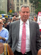 Image of Mayor Bill de Blasio won't talk - but his staff will (Wikipedia).