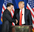 Image of Mitt Romney was friendly with Trump when he needed a campaign donation.