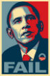Image of Street artist Shepard Fairey admitted his disappointment in US President Barack Obama.