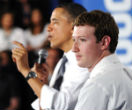 Image of Obama and Zuckerberg work closely. It's not clear on what.