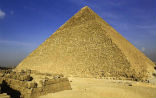 Image of The Great Pyramid is the largest, most elaborate of all the Egyptian pyramids.