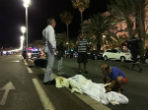 Image of The dead lined the streets all night in Nice following a deadly terror attack that claimed 84 lives.