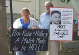 Image of Senator Tim Kaine claimes to be Catholic - but is he?