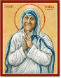Image of The icon of Saint Teresa of Calcutta.