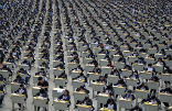Image of Students in China sit for an exam.
