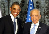 Image of Obama offers touching tribute to Nobel Peace Prize winner Shimon Peres (EPA).
