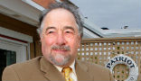 Image of Michael Savage was censored while broadcasting live and asking about Clinton's health.