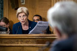 Image of Elizabeth Warren skewered Wells Fargo CEO John Stumpf during a Senate inquiry over the massive fraud perpetrated by the company.