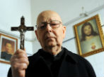 Image of Father Gabriele Amorth is a trained exorcist.