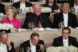 Image of Cardinal Dolan described his seat as the iciest on the planet, but there were laughs and the event was a fundraising success.