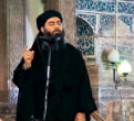 Image of Abu Al Baghdadi has ordered his men to fight to the death, as he is trapped in the city with them.