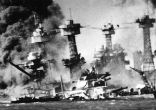 Image of The Japanese attack at Pearl Harbor was a tactical surprise, but a strategic blunder, with the valuable aircraft carriers out of reach.
