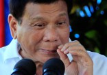 Image of Duterte threatened to kill human rights campaigners if they stand in his way (Reuters).