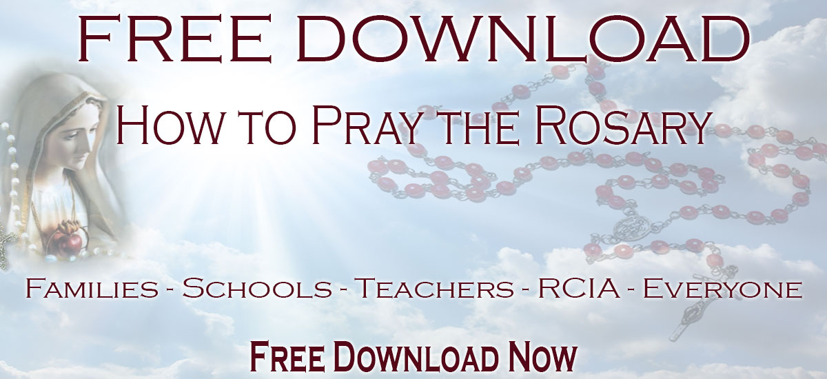 How to Pray the Rosary FREE download by CatholicShopping.com