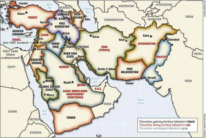 The new Middle East, how it could look once the operation is complete.