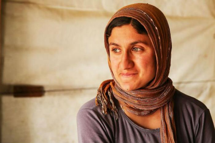 A woman at Sharia Al Haman Hope Refugee Campe in Duhok Iraq.