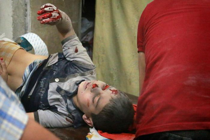Young lives are lost with every air strike.