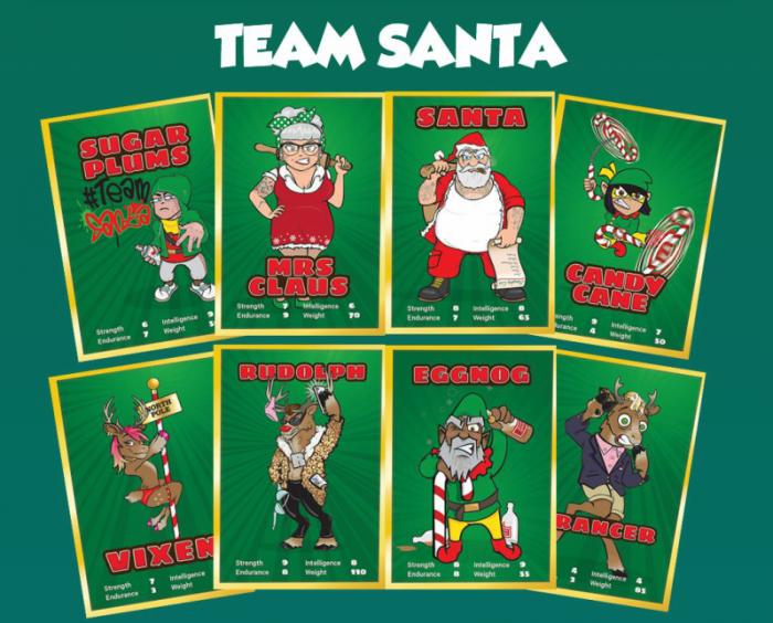 Team Santa cards.
