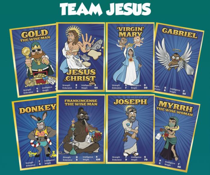 Team Jesus cards.