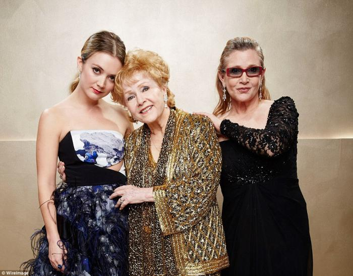 Carrie Fisher, her mom and her daughter