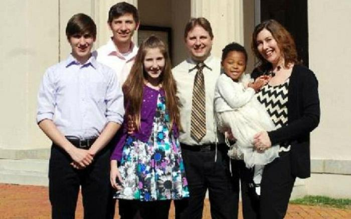 Faith was adopted into a loving family.