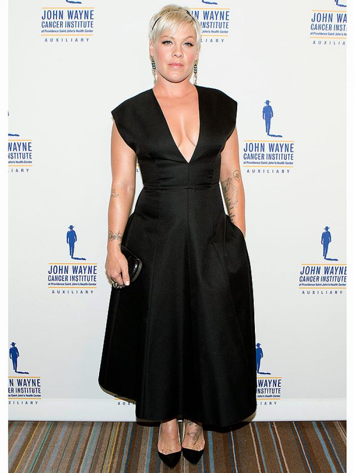 Pink at Charity event