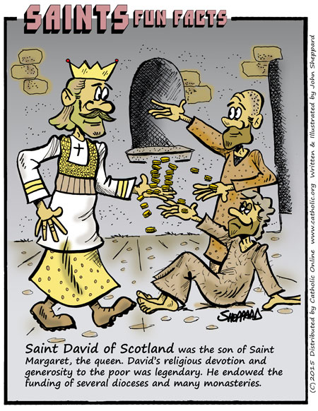 Saints Fun Facts for St. David I of Scotland