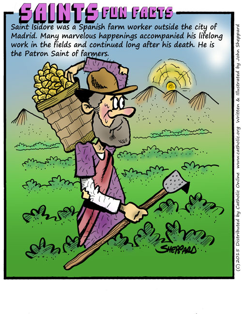 Saints Fun Facts for St. Isidore, the Farmer