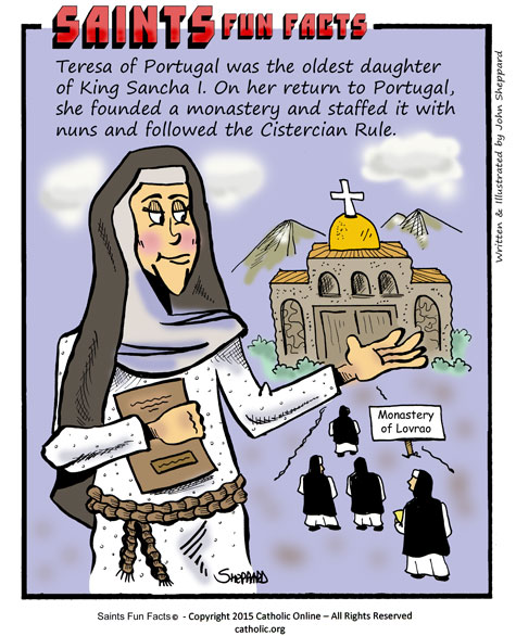 Saints Fun Facts for St. Teresa of Portugal