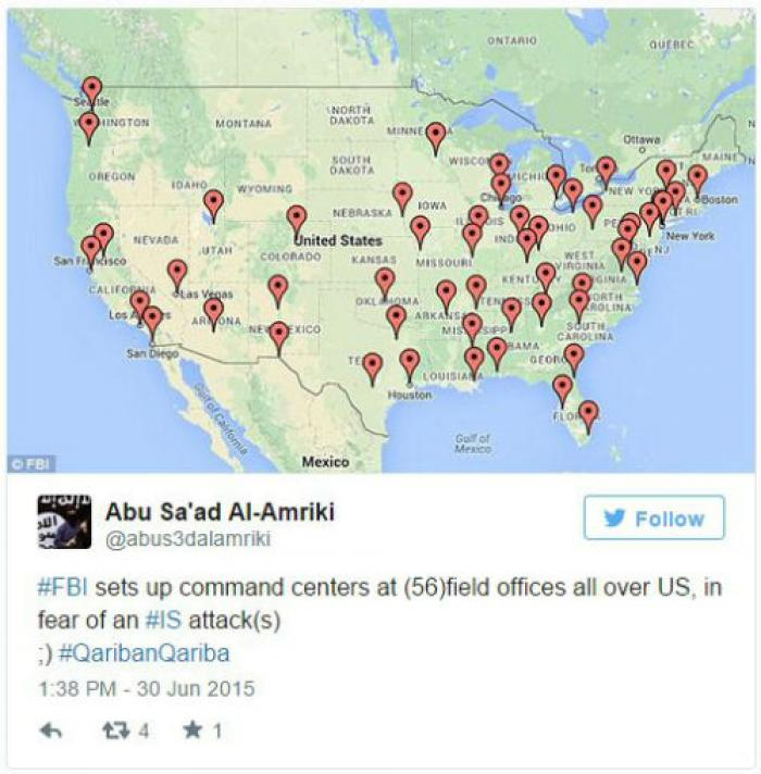 TERROR LEAK ISIS Learns Of FBI Command Centers Across US For - Us catholic map