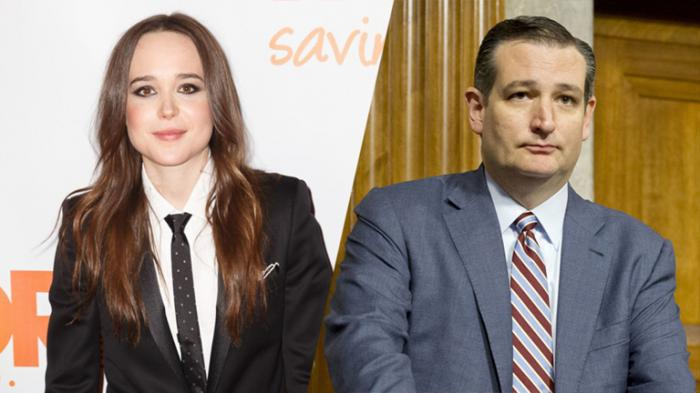 ted cruz and ellen page variety.com