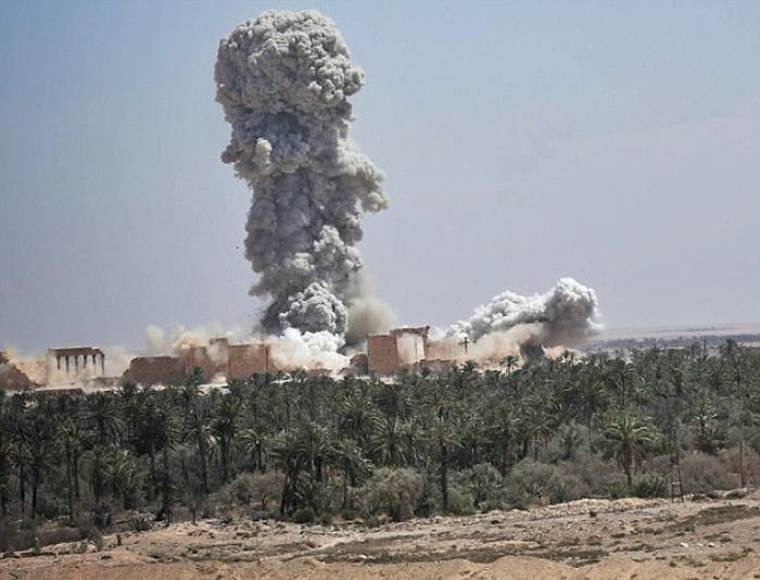Temple of Bel exploding